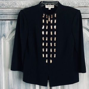 St. John Evening Bronze Crystal Jacket